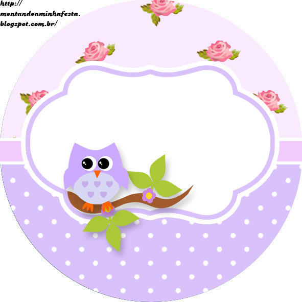 Kit Digital Gratuito Para Imprimir Corujinha Floral Imagem