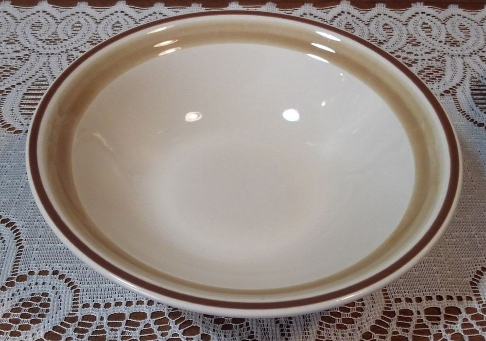 Hearthside Stoneware, Watercolors Pattern Coupe Cereal Bowl. Brown n ...