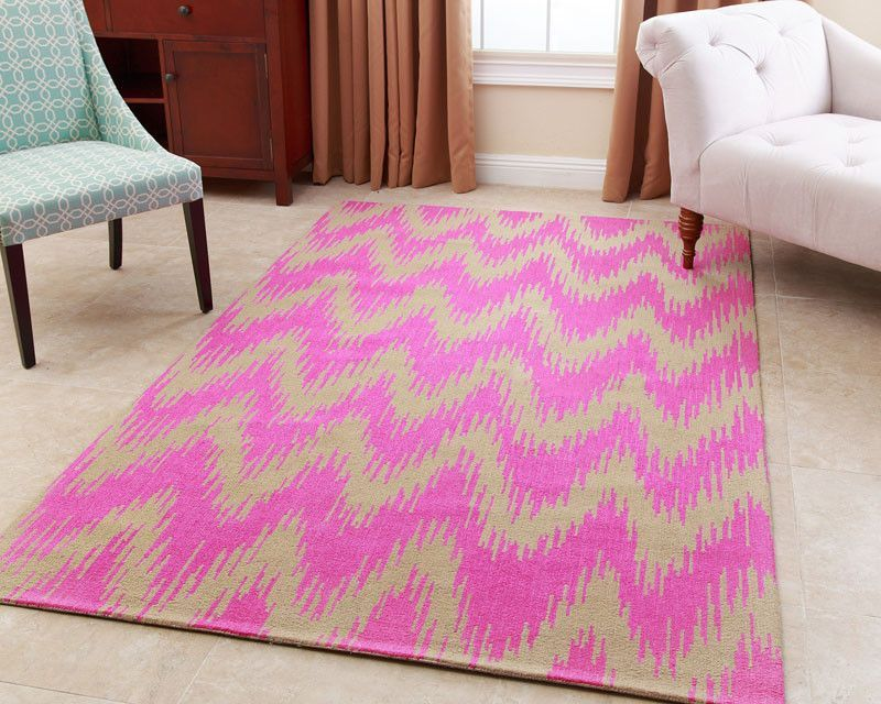 Abbyson Living RC-EM30-0305-PNK Hand-tufted Emily Pink New Zealand Wool Rug (3' x 5')