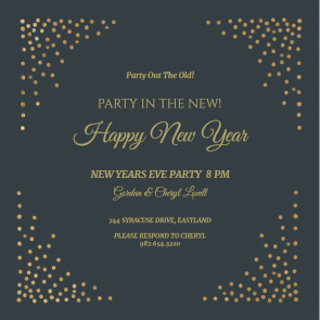 Corner Shots New Year Invitation Template Free Greetings Island Party Invite Template Invitation Template Free New Year Cards