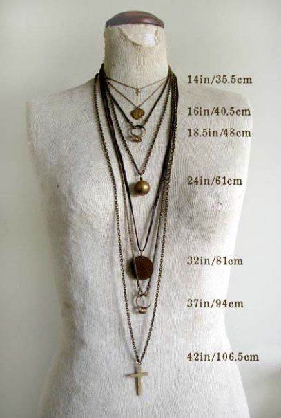 necklace lengths- helpful!