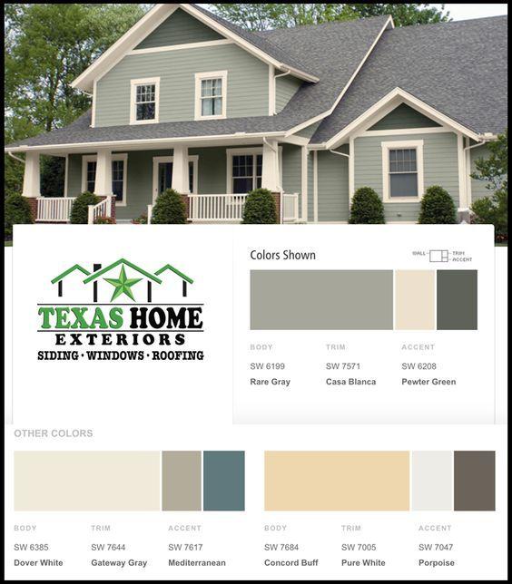 Rare Gray Casa Blanca Exterior Color Ideas Texas Home