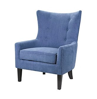 Madison Park Carissa Blue Shelter Wing Chair at www.carsons.com