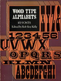 American Wood Type 1820 1880 Lettering Lettering Alphabet Wood Type Poster