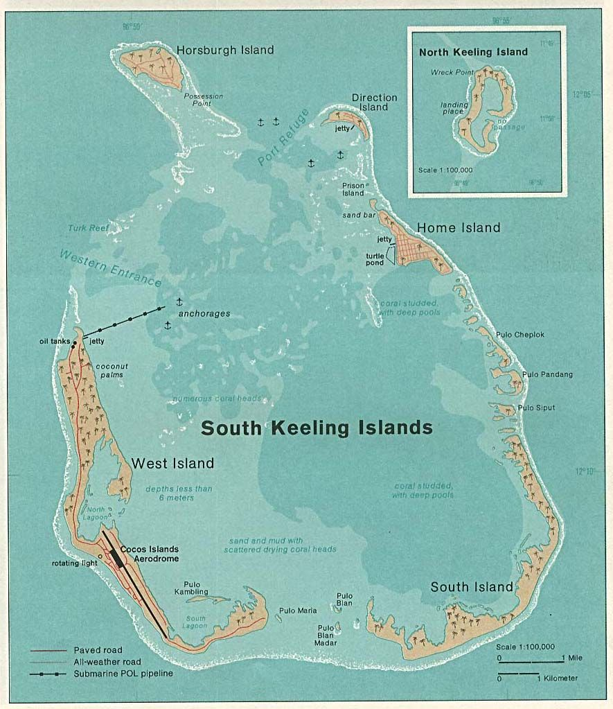 The Territory Of The Cocos Keeling Islands Cocos Keeling Islands Cocos Island Island