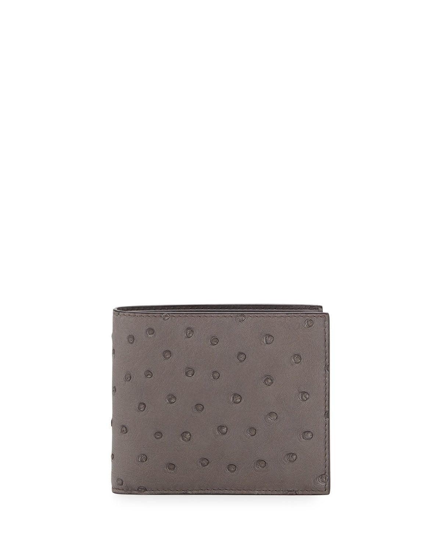 396cfeaf Prada Ostrich Bi-Fold Wallet | *Handbags, Wallets & Cases > Wallets ...