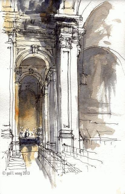 Pin By Razan Masri On Sketch Watercolor Architecture Urban