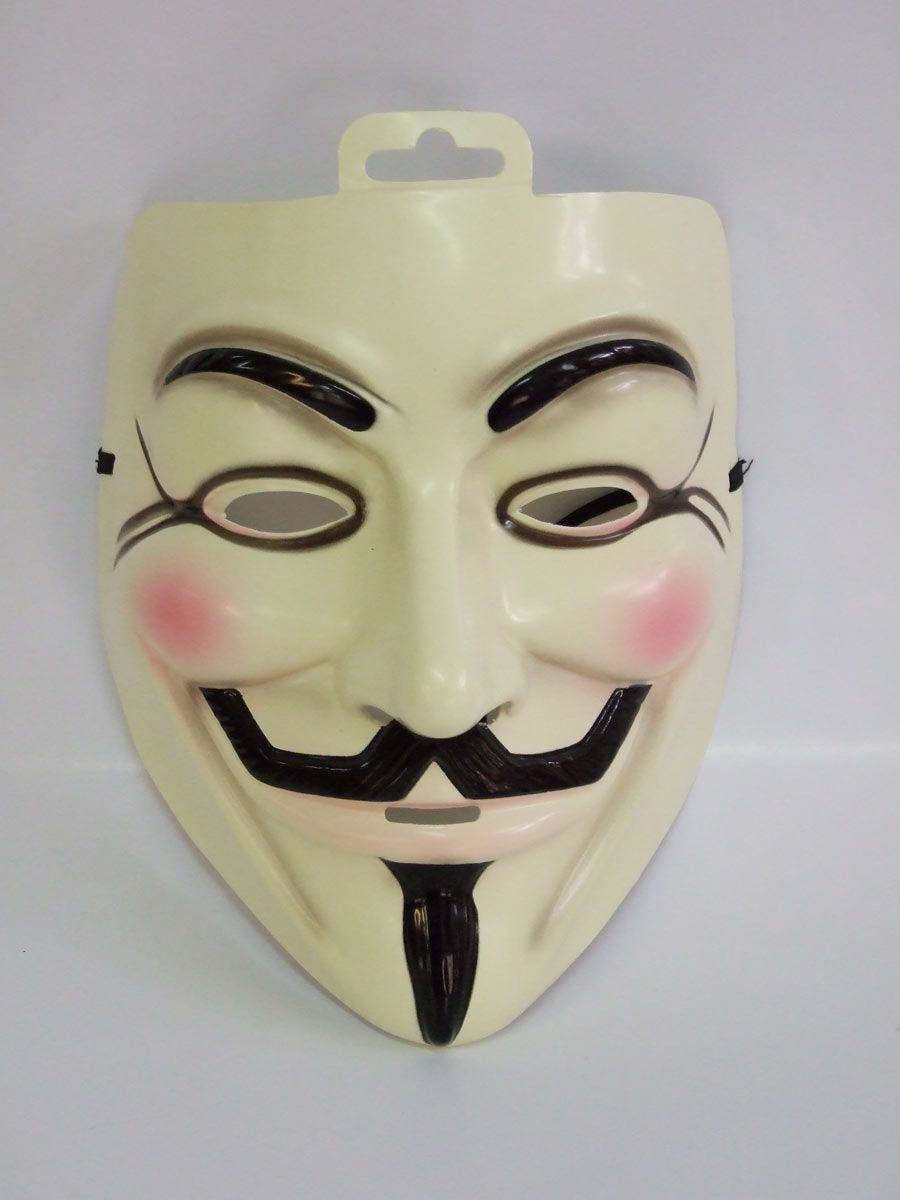 2 PK Halloween Cosplay Anonymous Movie Adult Guy Fawkes V For Vendetta Mask