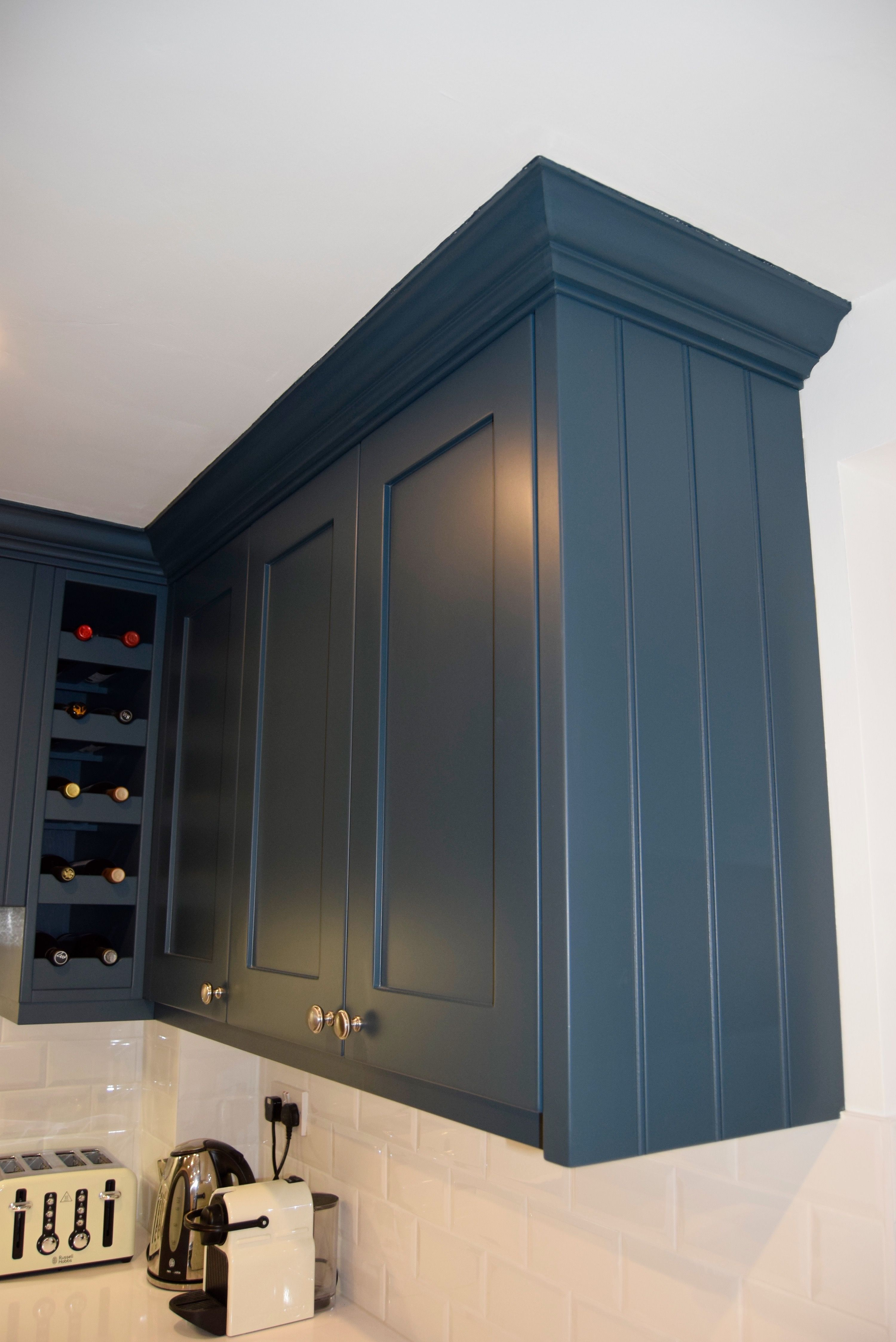 Bespoke Handmade Kitchens By Qualified Cabinet Maker Gill Martinez Painted In F B Hague Blue Oak Internal Carcasses Manchester Hague Blue Kitchen Blue Painted Furniture Blue Kitchen Cabinets