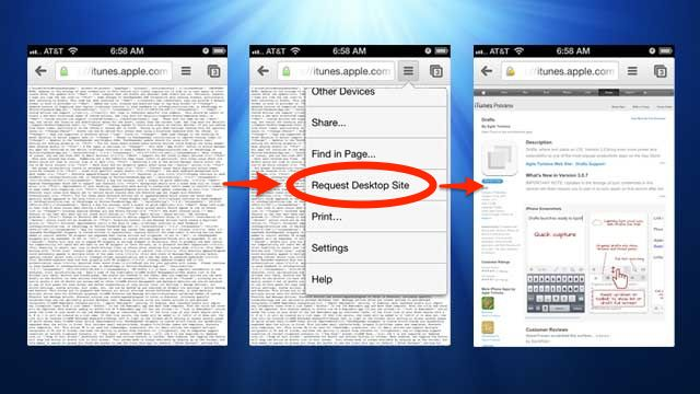 Open iTunes Links in Chrome for iPhone with the Desktop