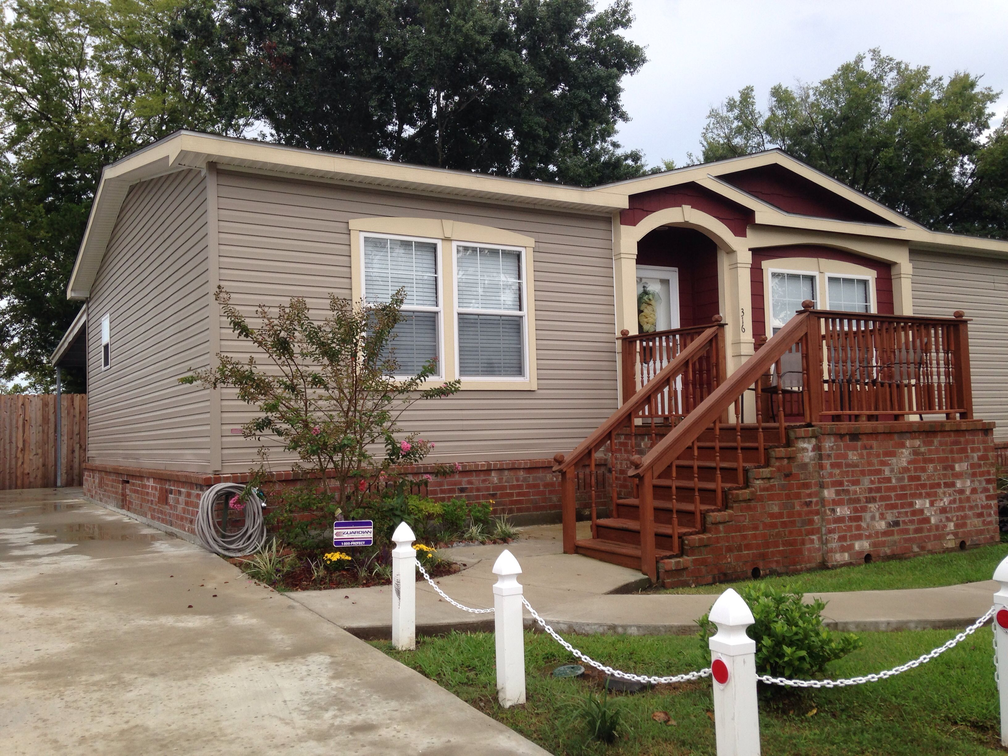 Really Love Brick Skirting Mobile Home Porch Mobile Home Deck