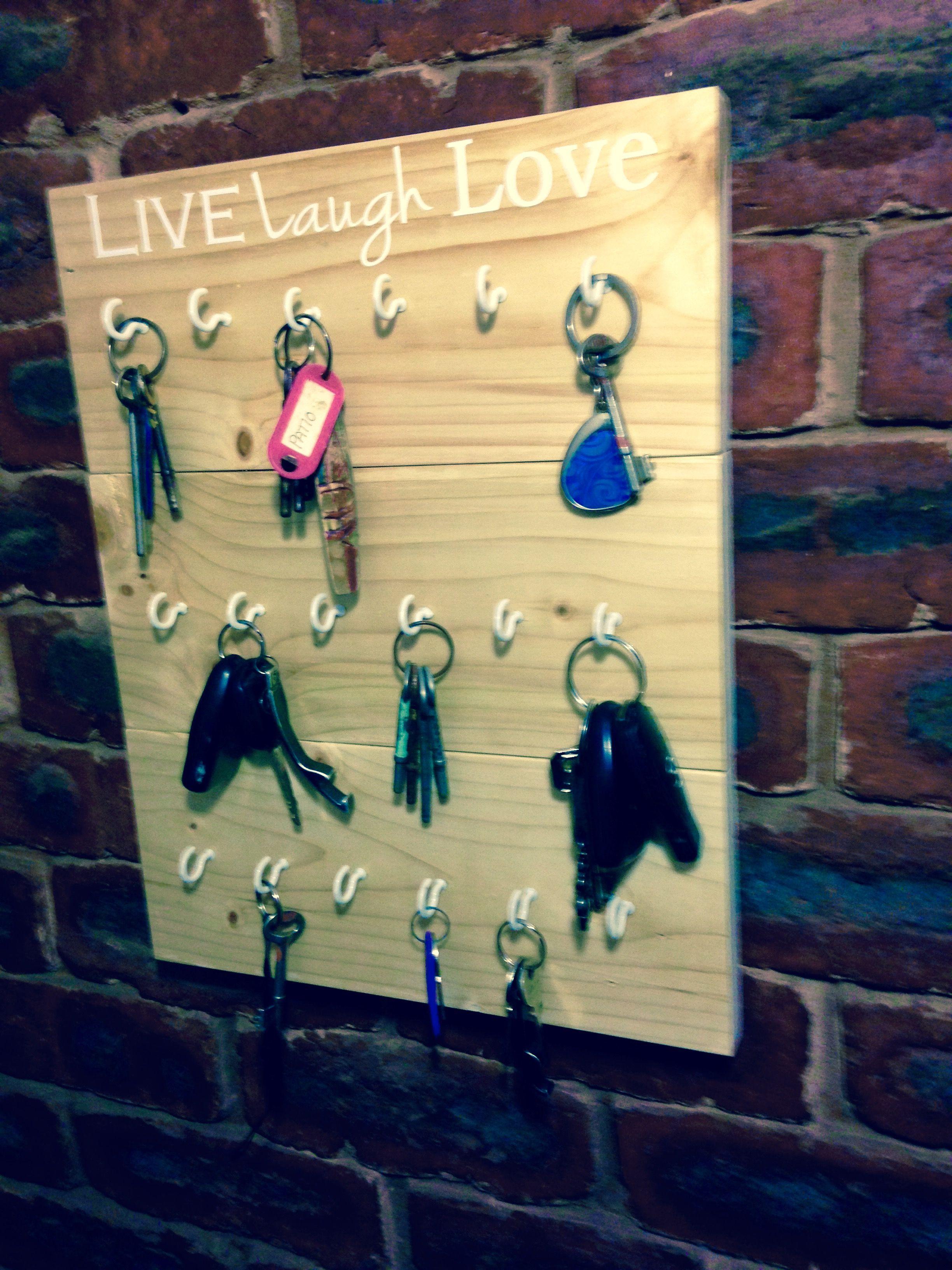 Key holder Wooden wall art sign | Entrance hall storage | Pinterest ...