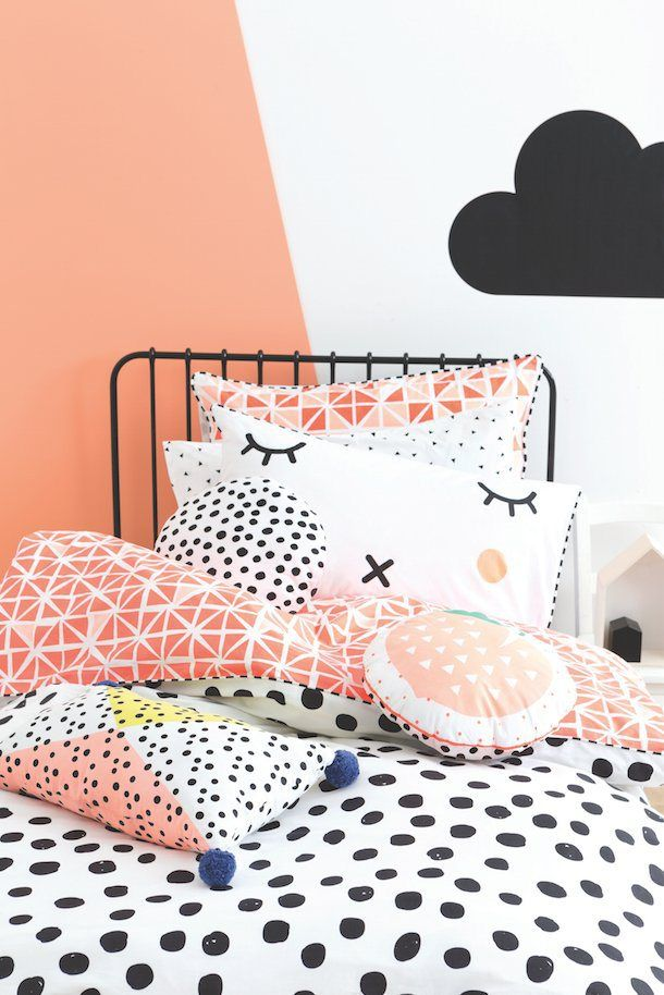 abstract black brush modern polka rose product duvet gold dot by dots cover covers