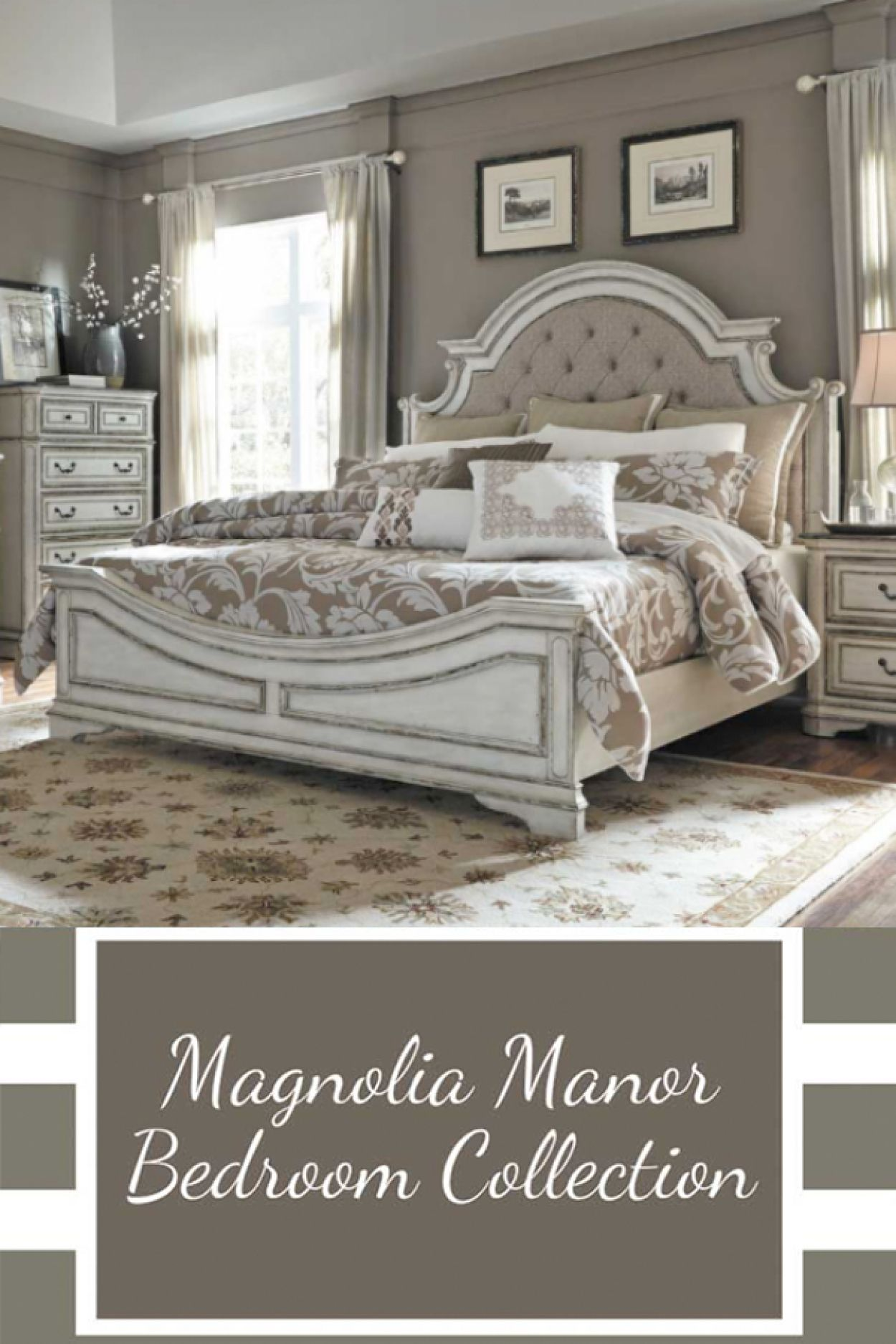 Magnolia Manor 5 Piece Bedroom Set Country Bedroom French Country Bedrooms French Country Decorating