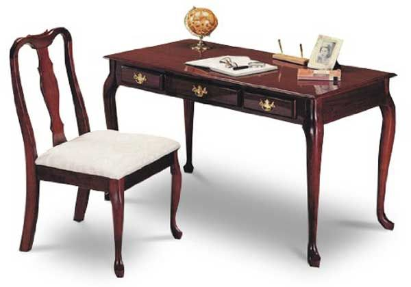 Cherry Finish Queen Anne Writing Desk With Chair Desk And Chair