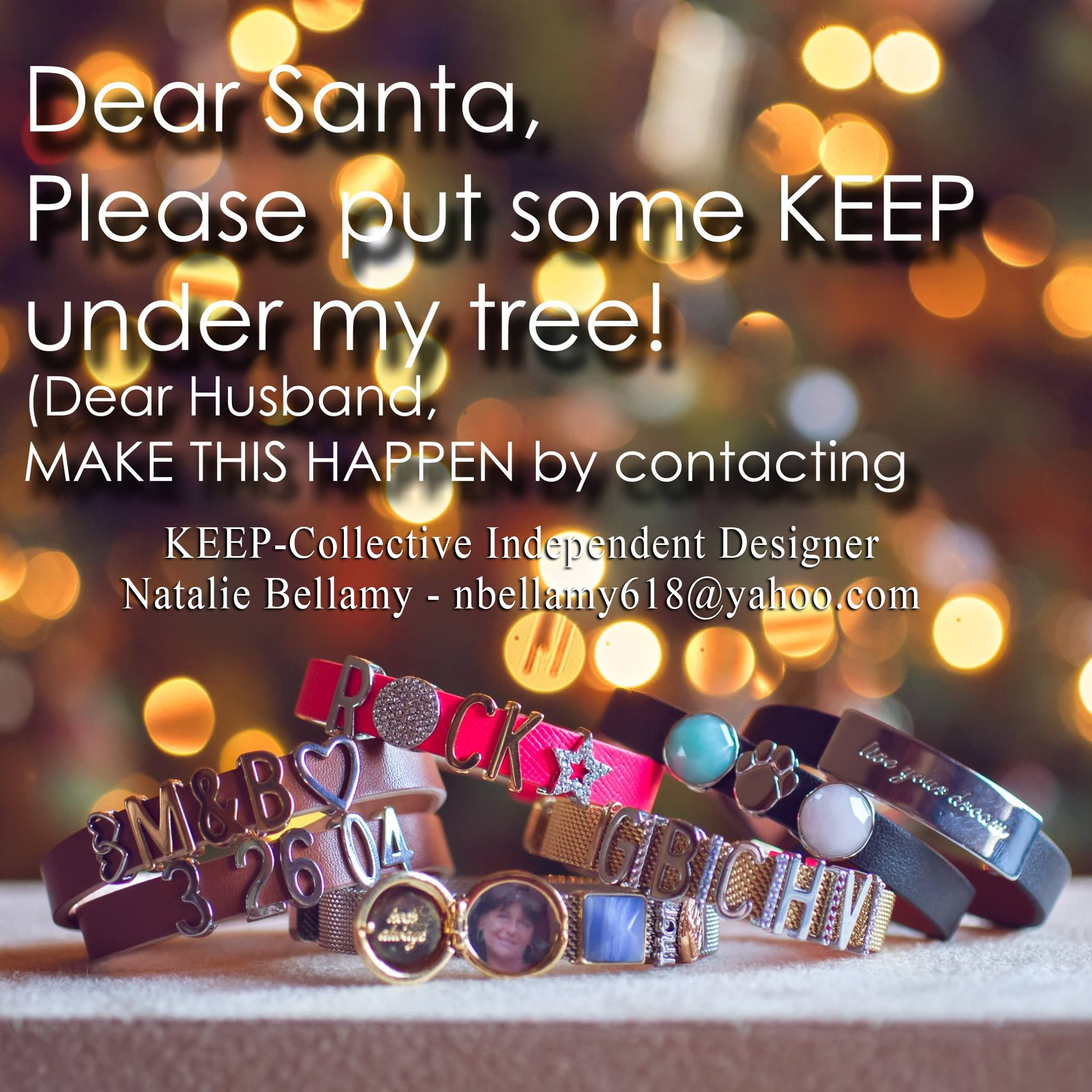 Dear Santa! I want personal, fabulous, interchangeable, & unique this Christmas! Something that ...