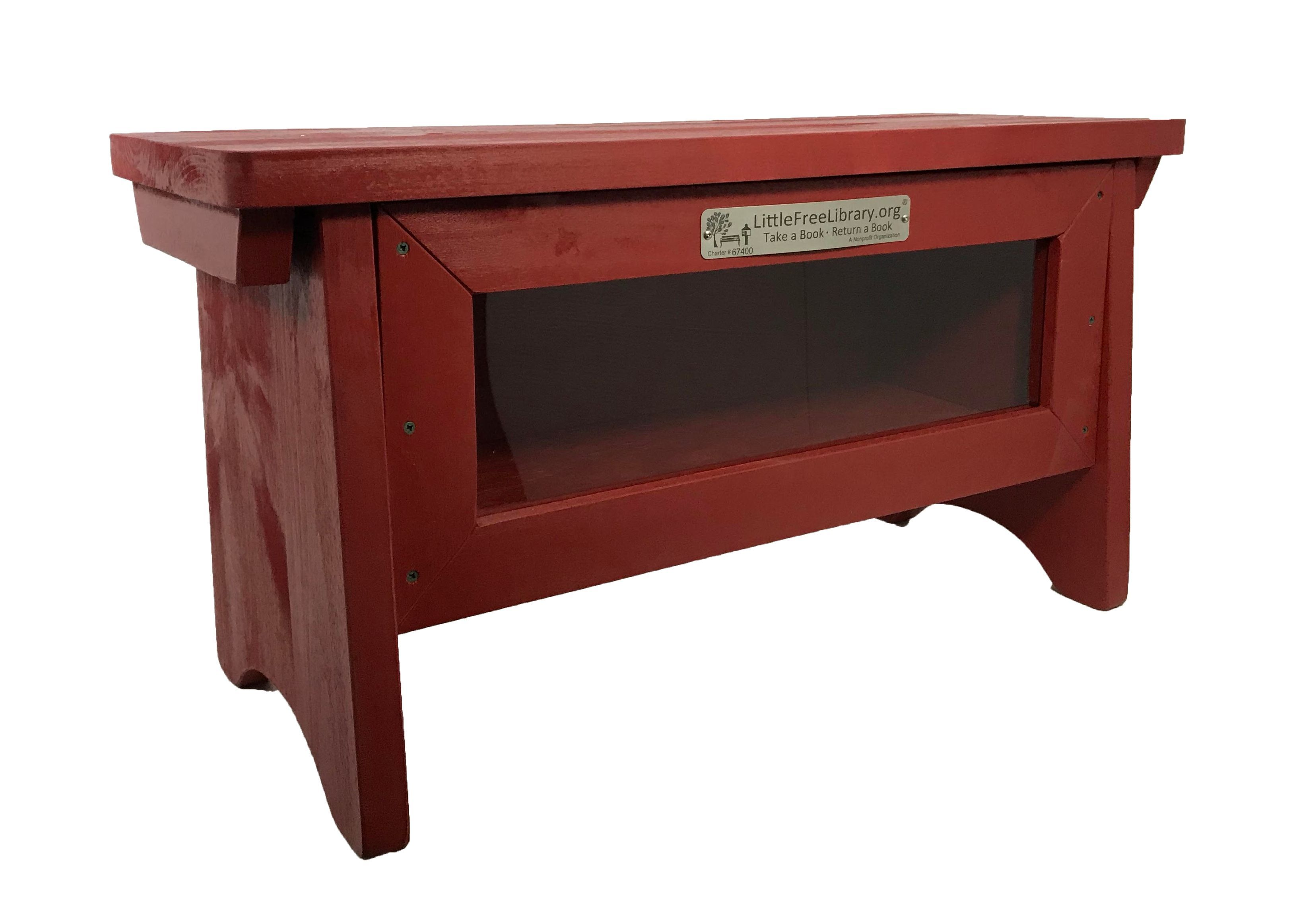Little Free Library Bench Red