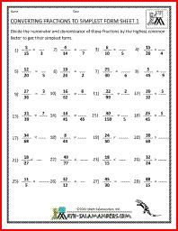 Converting Fractions to Simplest form, simplifying fractions ...