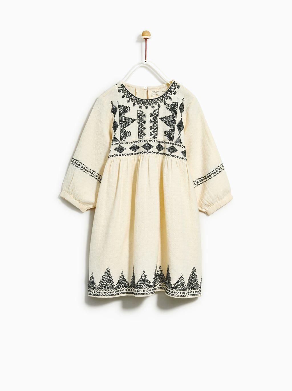 ade40accc VESTIDO BORDADOS | Style | Vestidos bordados, Ropa para niñas y Vestidos