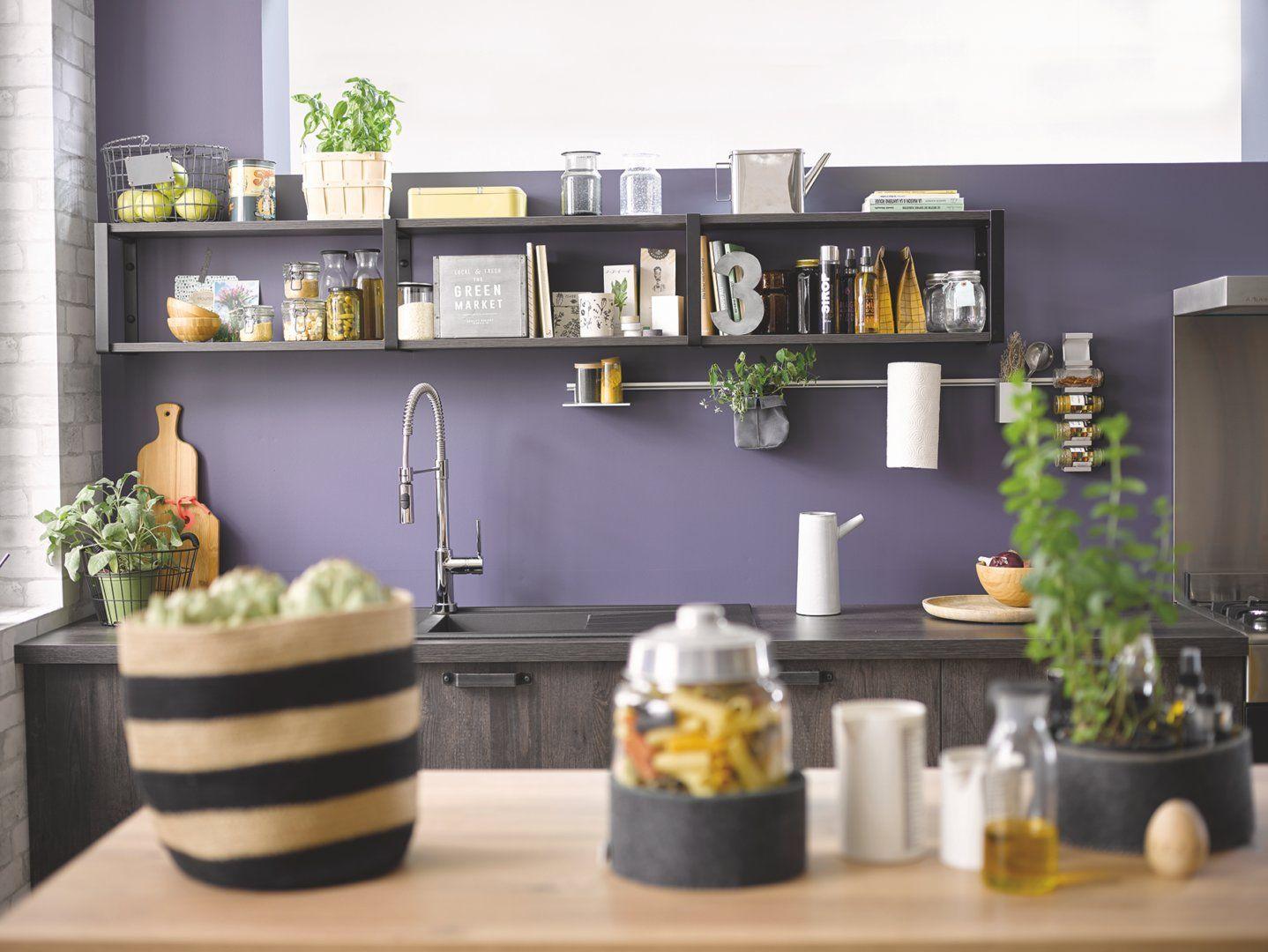 Decoration Avec Des Plantes Dans La Cuisine Vega Woody Dark