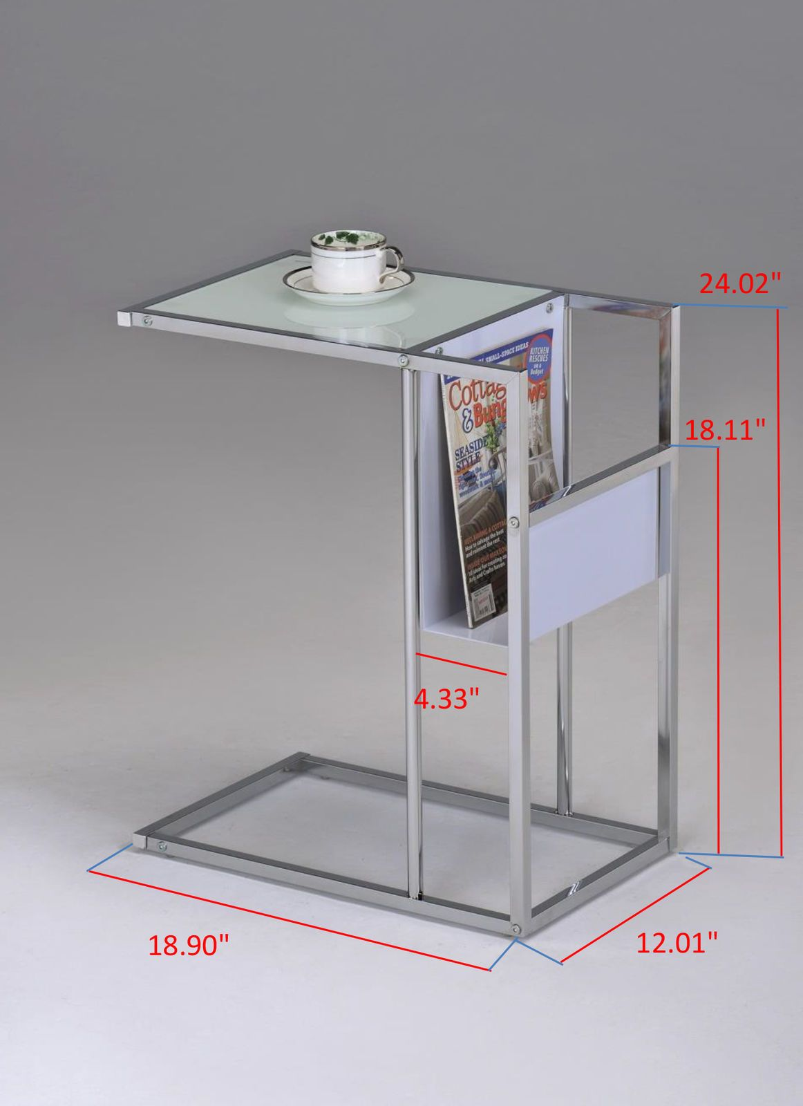Picture 2 Of 4 Contemporary Side Tables Glass End Tables Glass