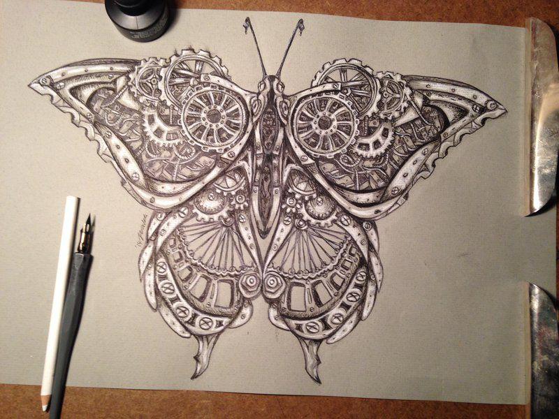 Steampunk butterfly by wystery.deviantart.com on ...