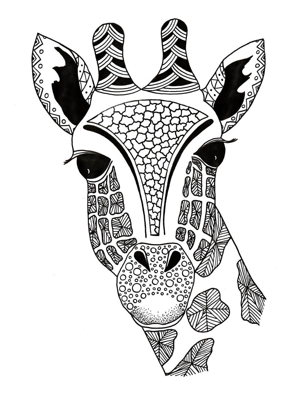 Giraffe Zentangle Coloring Page Giraffe Coloring Pages Pattern Coloring Pages Coloring Pages