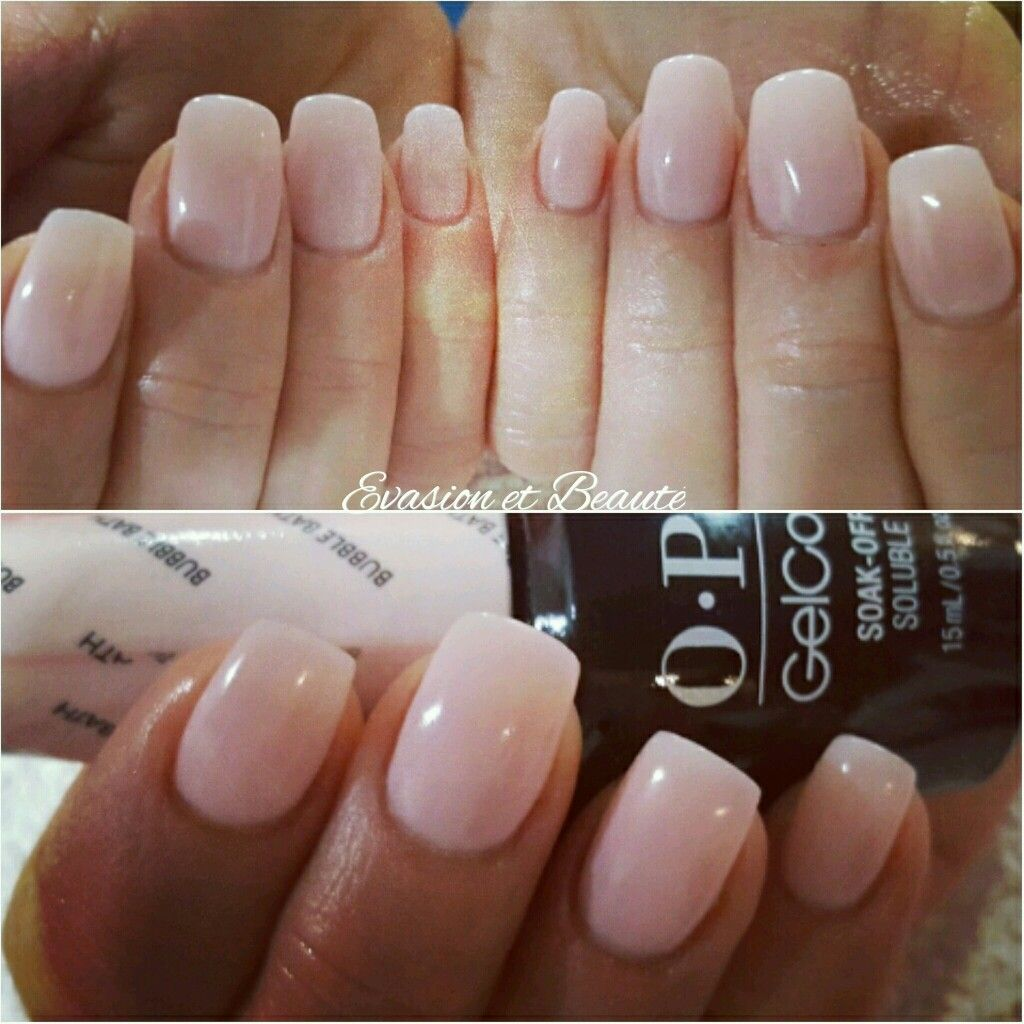 Remplissage Gel Gelcolor By O P I Bubble Bath By Opi Nude Nude Nail Love Opi In 2019 Gel