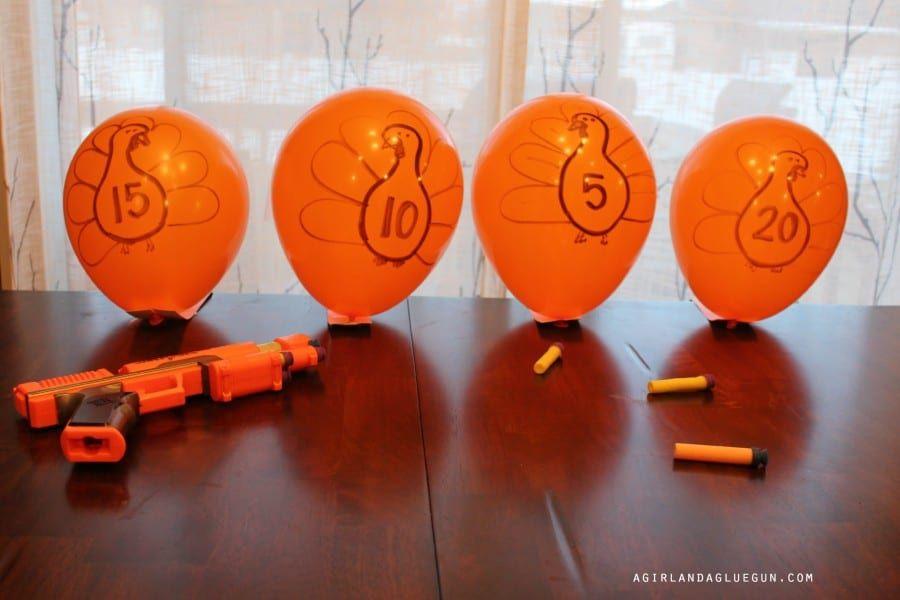 shooting turkeys game! - A girl and a glue gun