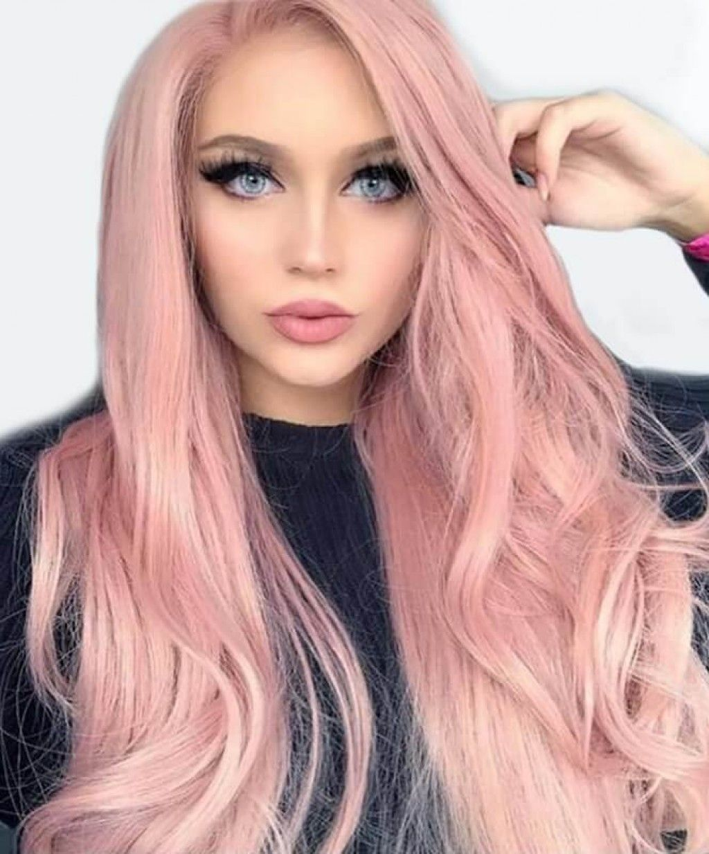 Lace Front Human Hair Wig Straight Ombre Pink Ombre Hair Blonde Hair Styles Wig Hairstyles