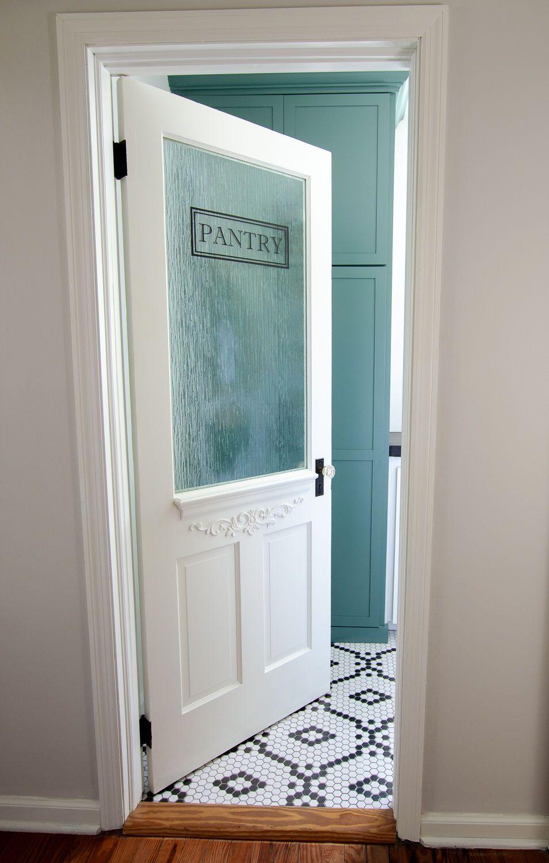 WalkIn Pantry Reveal Glass pantry door, Walk in pantry