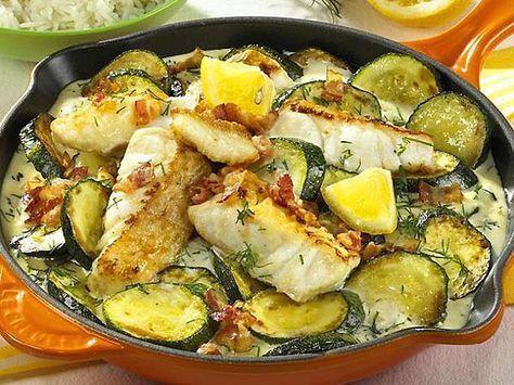 Zucchini-Fisch-Pfanne #easyshrimprecipes