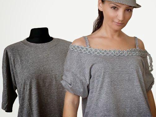 DIY: otra idea para transformar una camiseta de hombre - yo elijo Coser