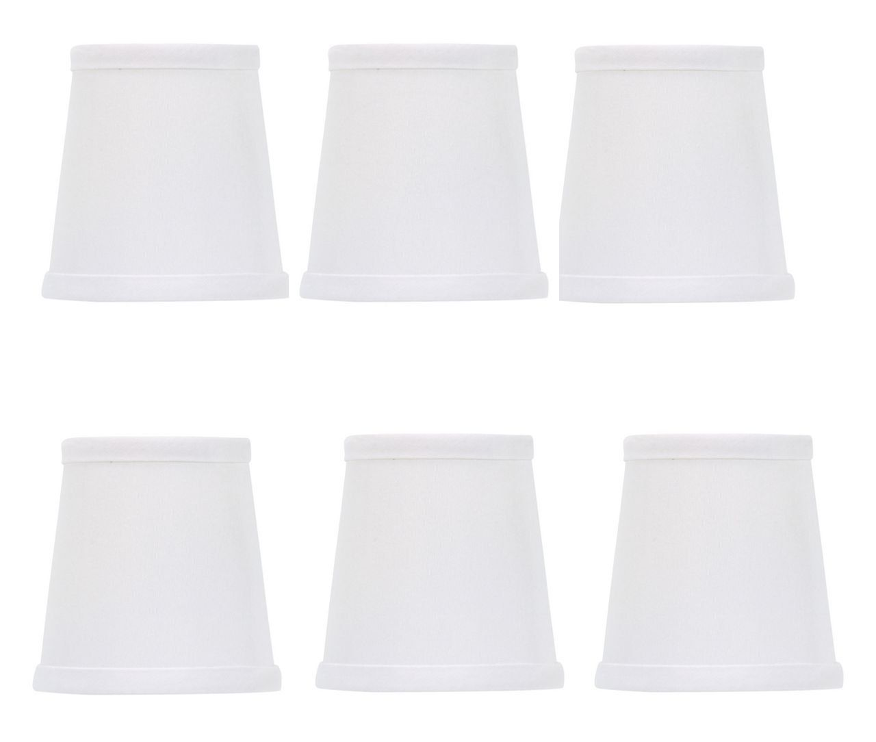 Mini chandelier shades clip on small lamp shade set of six white mini chandelier shades clip on small lamp shade set of six white silk type material arubaitofo Image collections