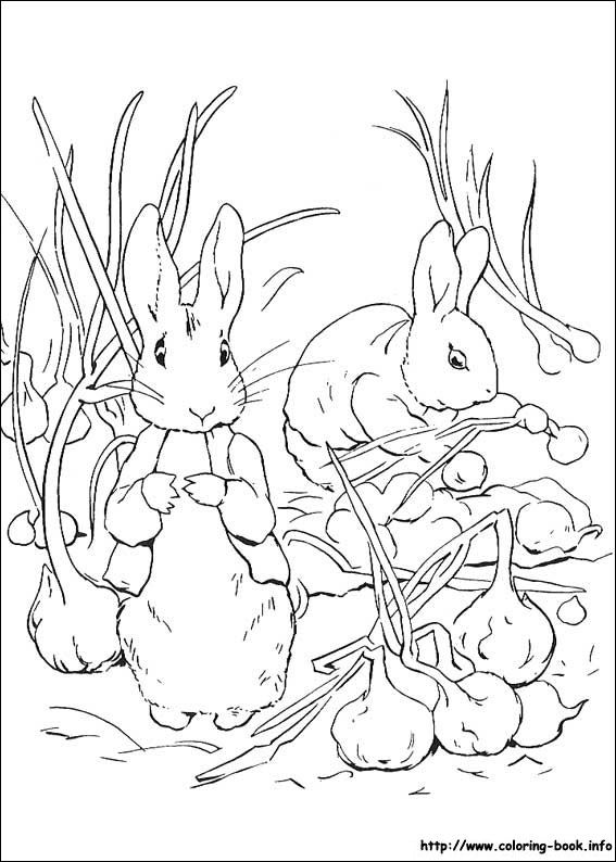 Peter Rabbit Coloring Picture Rabbit Colors Coloring Books Coloring Pages