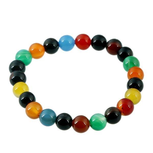 Jovivi 7 Chakra Lava Stone Yoga Balancing Reiki Healing Elephant Lucky Charm Bracelet,Mothers Day Gifts