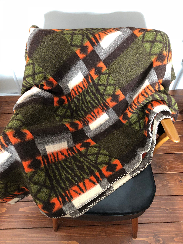 Vintage Retro Wolle Kariert Decke 60er 70er Jahre Blankets For Sale Throw Blanket Blanket