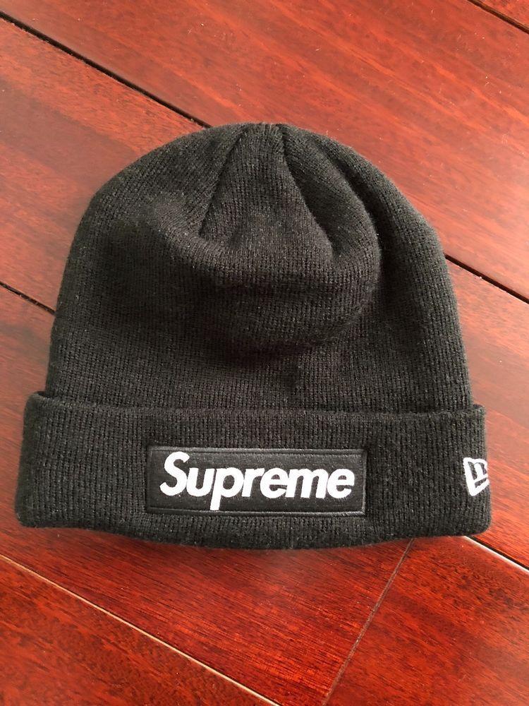 a3b6accbafb Supreme New Era Box Logo Beanie fw16 Black  fashion  clothing  shoes   accessories  mensaccessories  hats