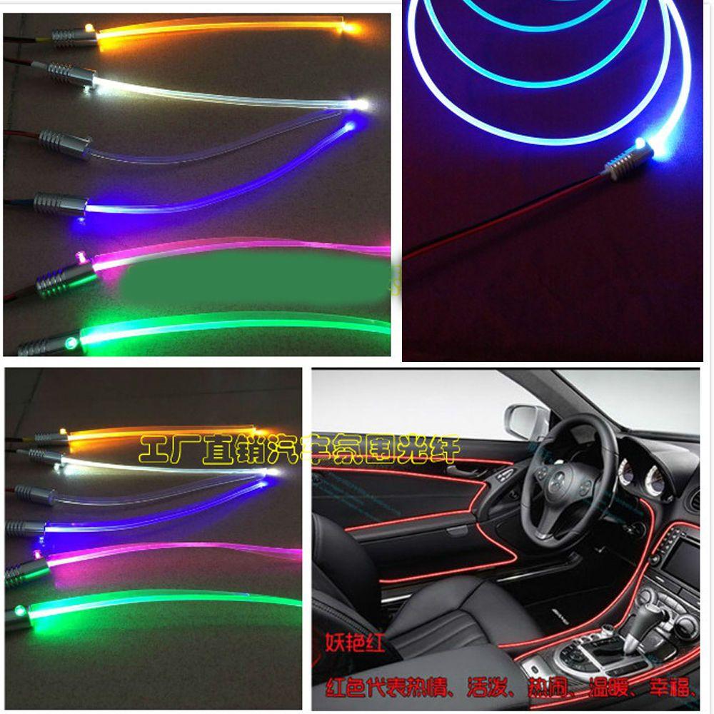 3MM Led Source Illuminator Car Ceiling Fiber Optic Light Glow Blue