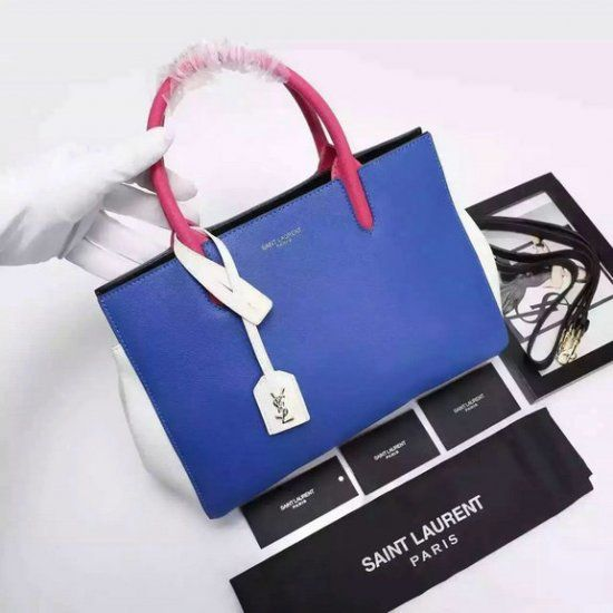 2016 S S YSL Small Cabas Rive Gauche Tote Bag in Multicolored Leather Yves  Saint f0d098eab9d