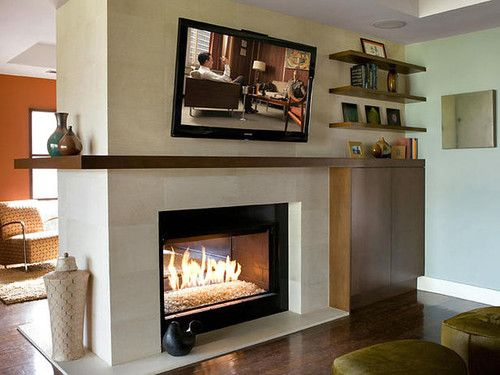 See through fireplace is living room focal point for See through fireplaces