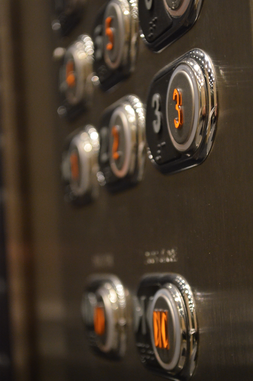 A Detail Of Elevator Push Buttons Premierelevator
