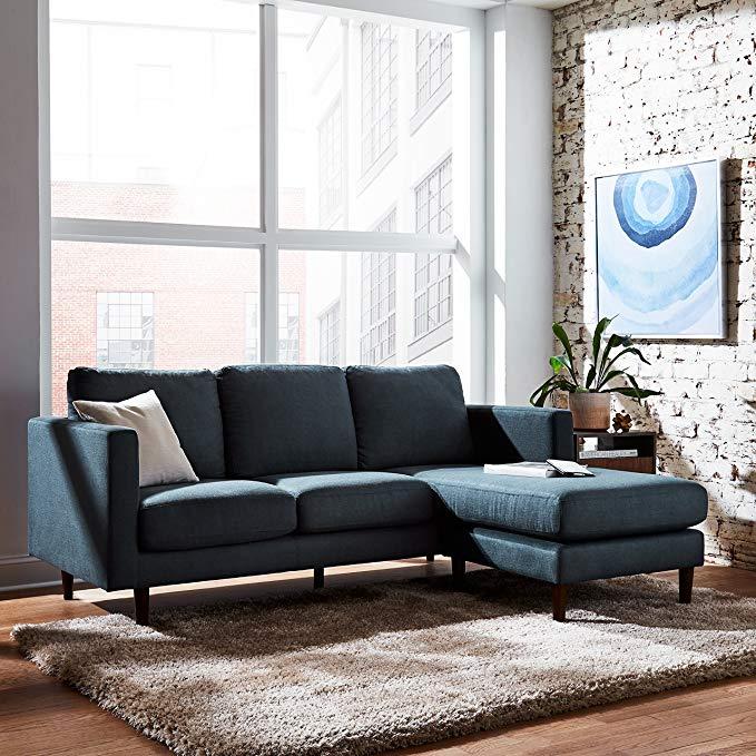 Amazon Com Rivet Revolve Mid Century Modern Reversible Chaise