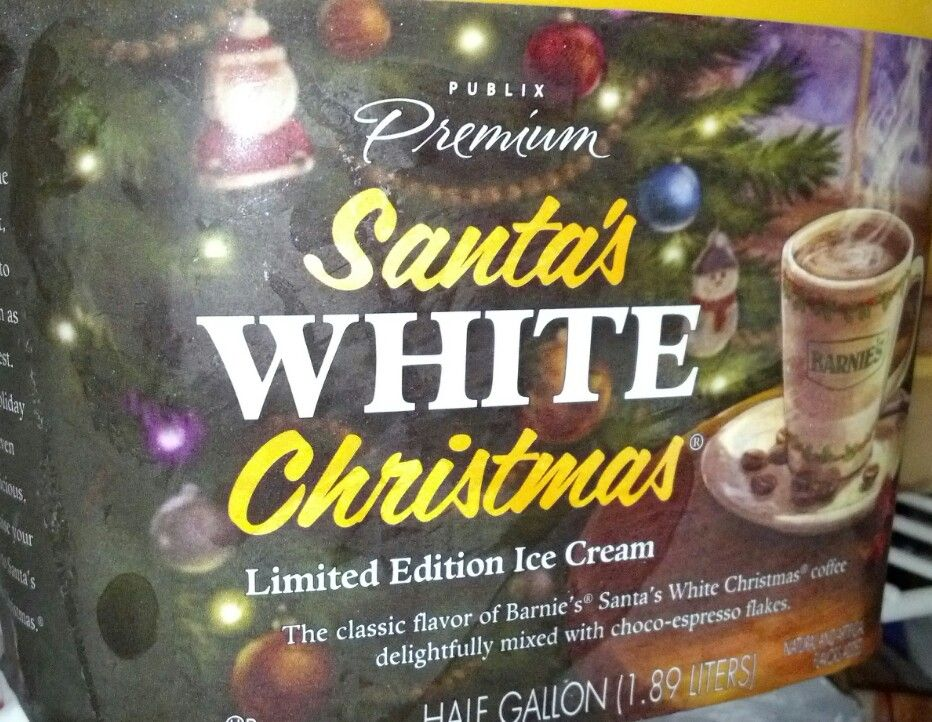 Santa's White Christmas ice cream at Publix - I hate how much i ...