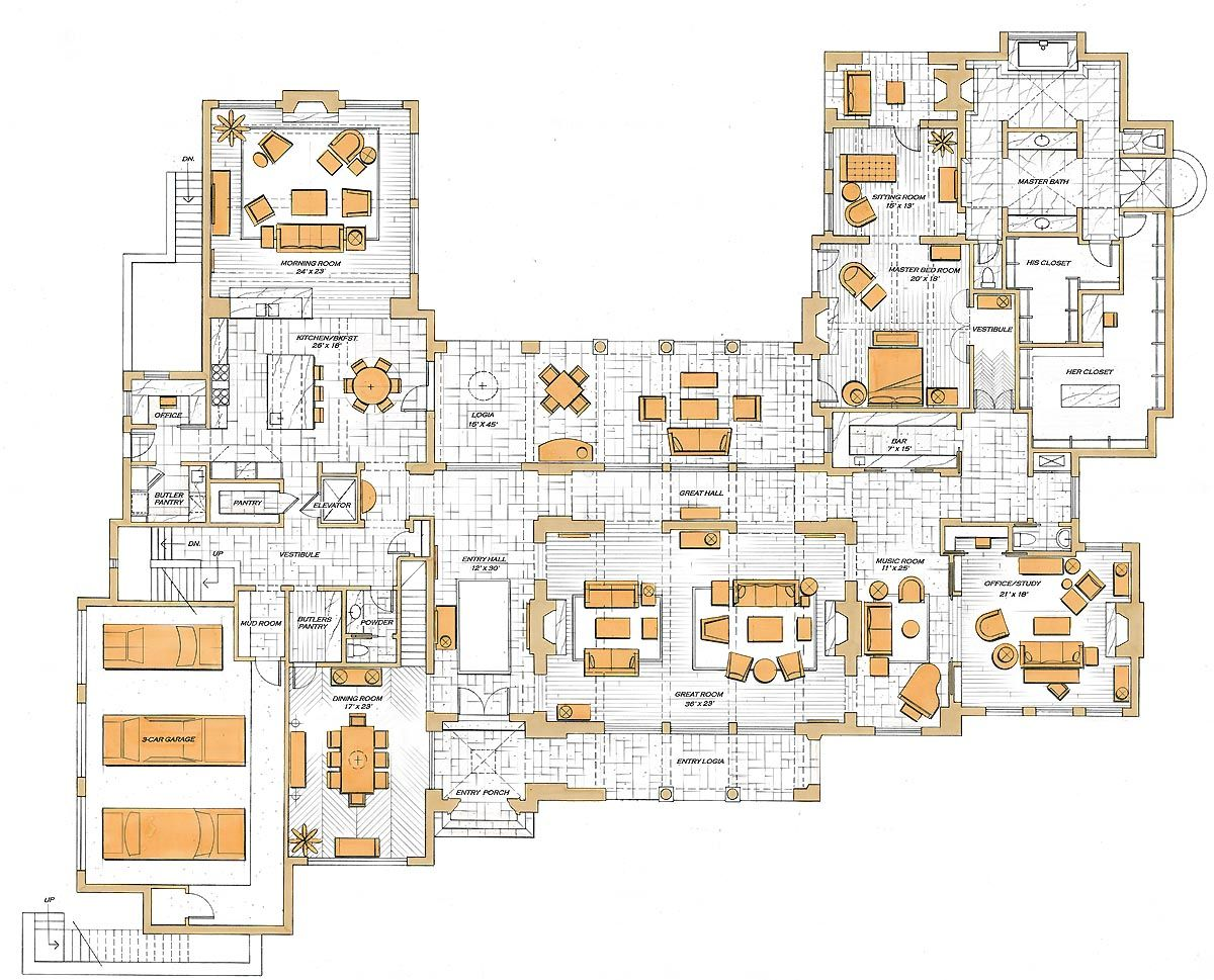 Texas Mansion Ground Floor Mansion Floor Plan Floor Plan Sketch Floor Plan Design