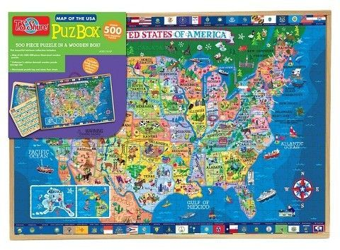 T.S. Shure - 500 Piece United States Wooden Puzzle | Products ...