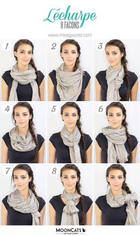 tuto comment porter echarpe foulard beaut pinterest foulard echarpe et porter une charpe. Black Bedroom Furniture Sets. Home Design Ideas