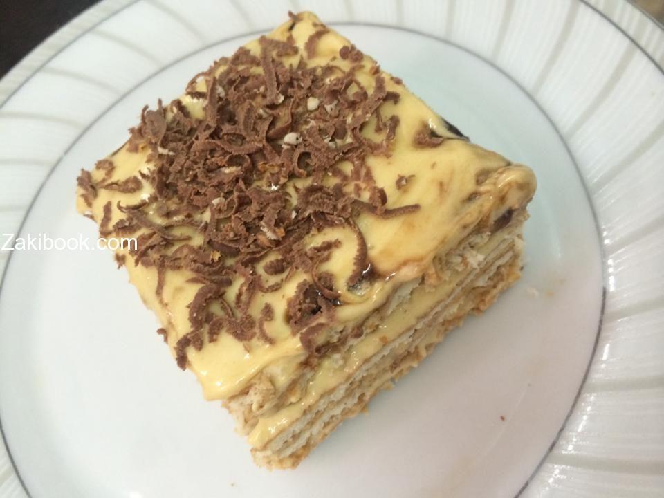 كيكة النسكافيه الباردة ولا يعلا عليها زاكي Delicious Desserts Sweets Recipes Food