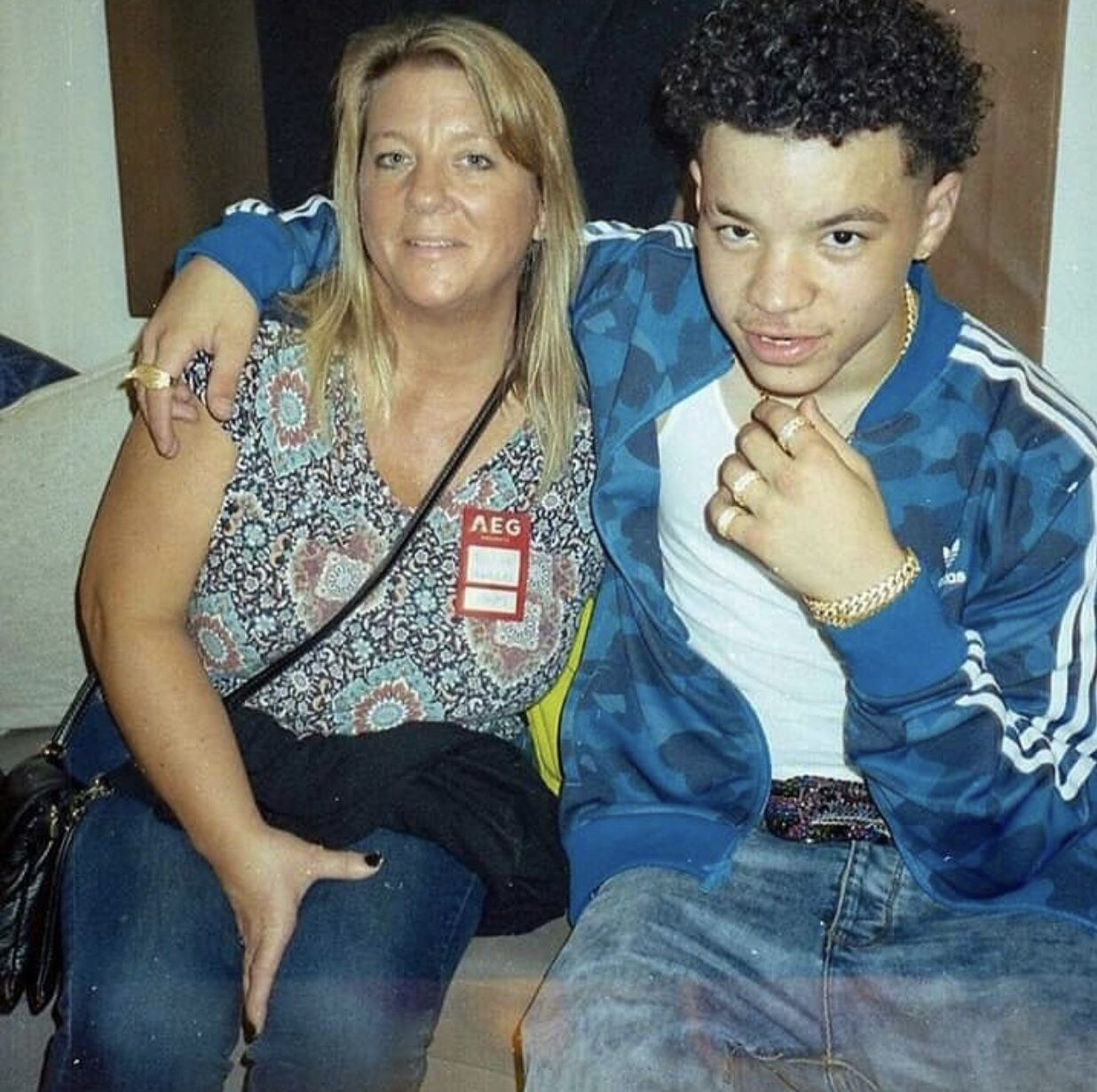 This picture is soo cute 💗 (that's his mom btw) (With