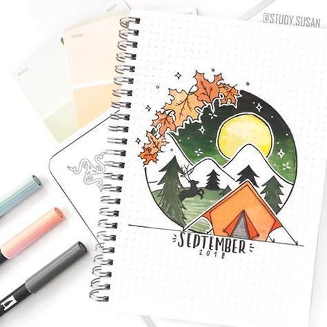 Fall Bullet Journal Cover Pages ⋆ Sheena of the Journal #fall